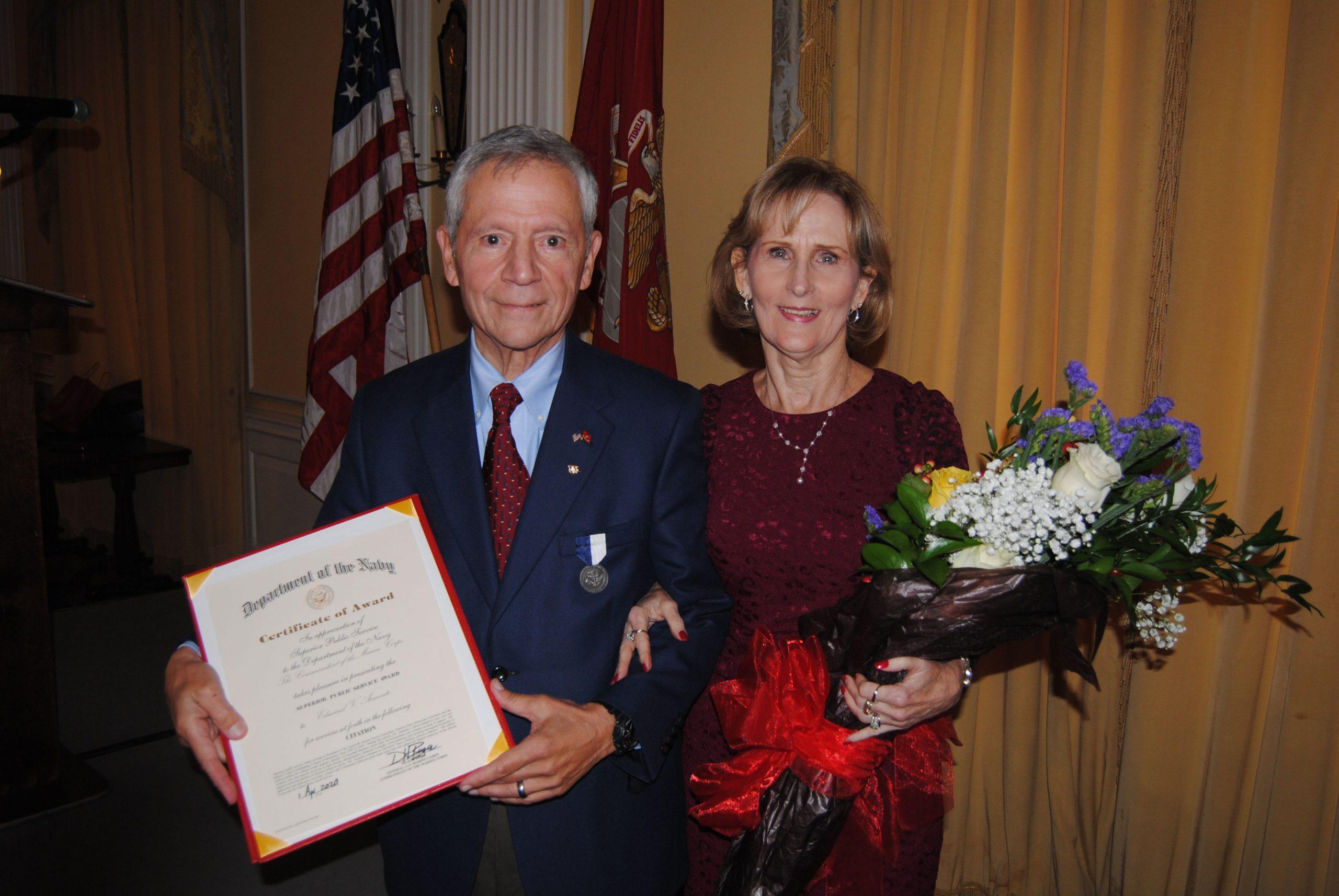 Edmund V. (Ed) Armento Navy Public Service Award 2020